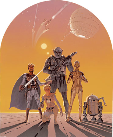Early 1975 Ralph McQuarrie Star Wars Poster Design